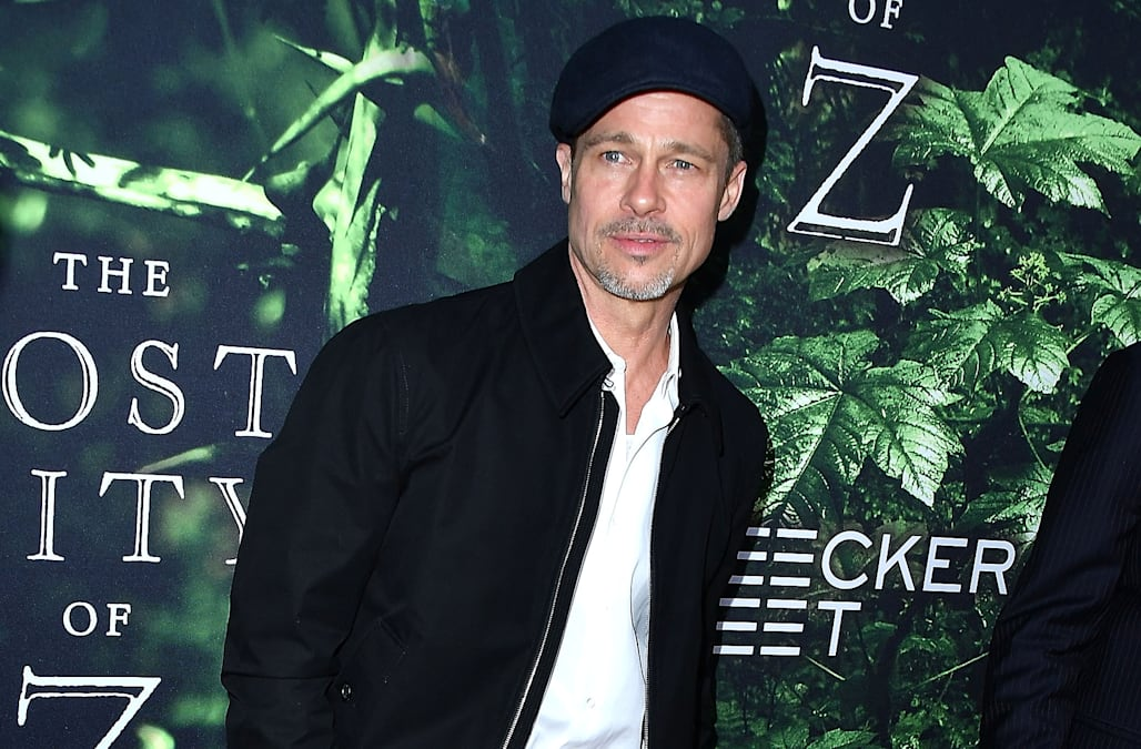 Brad Pitt Looks Ruggedly Handsome As He Heads To Art Studio Flashes