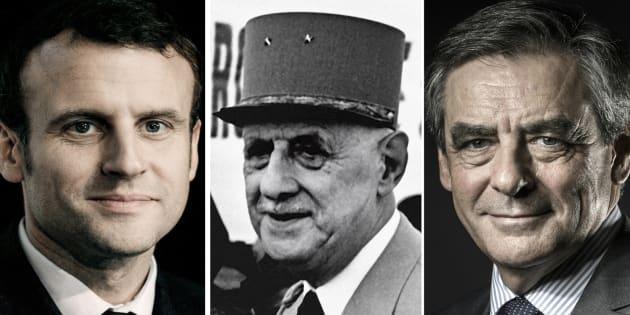 """Accusé d'être """"Emmanuel Hollande"""", Macron répond à Fillon avec le Général de Gaulle"""