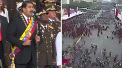 Les images de la panique après l'explosion qui a interrompu Maduro en plein