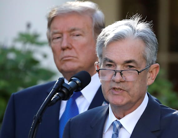 Trump unhappy but says Fed chairman's job safe