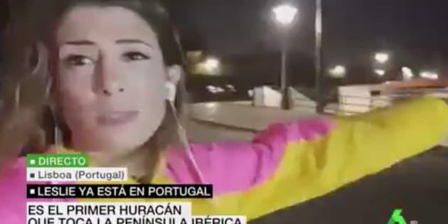 Una reportera de LaSexta, en Lisboa.