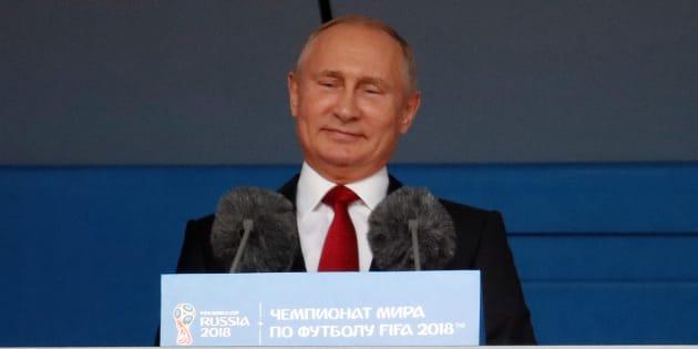Vladimir Putin discursa na abertura da Copa da Rússia.