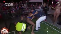 Hanouna plaqué à terre par un homme en string: ce qu'il s'est passé selon la production de
