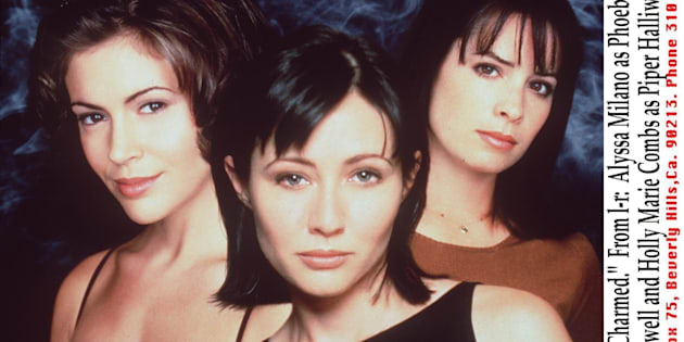 The Cast Of 'Charmed.' From L-R: Alyssa Milano As Phoebe Halliwell, Shannen Doherty As Prue Halliwell And Holly Marie Combs As Piper Halliwell. (Photo By Getty Images)