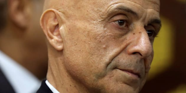 Italian Interior Minister Marco Minniti looks during a news conference with his Tunisian counterpart Hedi Majdoub in Tunis, Tunisia January 3, 2017. REUTERS/Zoubeir Souissi