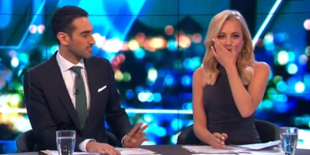 Bickmore became teary-eyed at the desk as she announced the milestone.