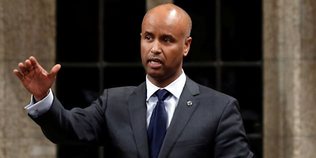 Immigration Minister Ahmed Hussen speaks during Question Period in the House of Commons on Parliament Hill in Ottawa, Jan. 31, 2017.