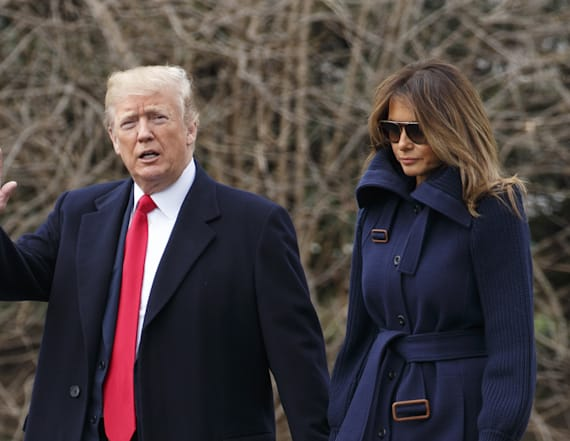 President Trump saves the day after Melania trips