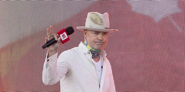 Tragically Hip frontman Gord Downie arrives at We Day on Parliament Hill in Ottawa on Sunday, July 2, 2017.