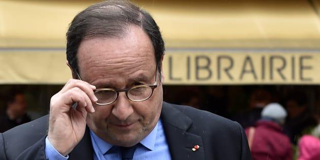 François Hollande à Tulle le 14 avril 2018.