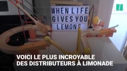 Ils construisent une fontaine à limonade absolument