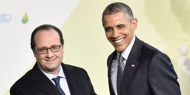 François Hollande et Barack Obama lors de la COP21 à Paris.