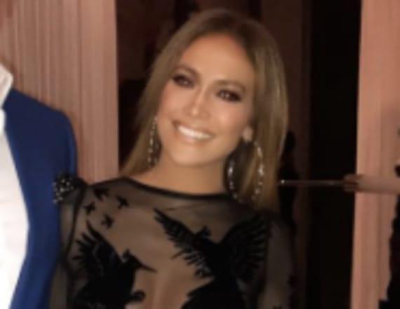 Jennifer Lopez drops jaws in sheer mini dress