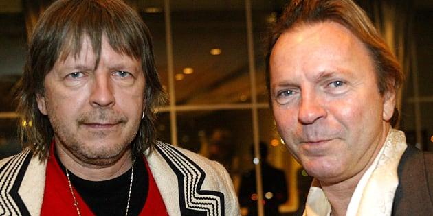 Renaud en compagnie de son grand-frère Thierry Séchan, décédé à l'âge de 69 ans.
