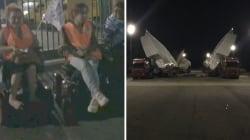 Des personnes handicapées ont bloqué le convoi de l'A380 d'Airbus près de