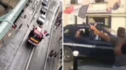 Pompiers et gendarmes ont aussi fêté la victoire des Bleus (entre deux
