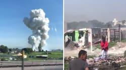Les images de l'explosion dans un entrepôt de feux d'artifice qui a fait 12 morts au
