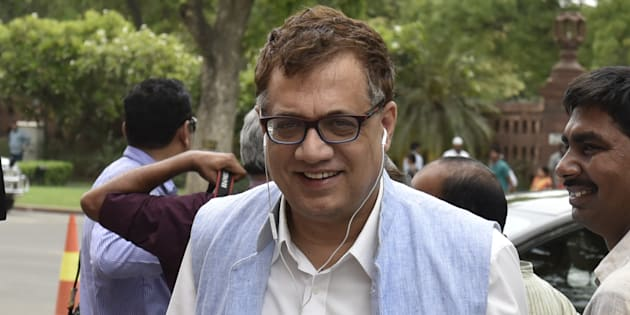 TMC leader Derek O'Brien outside Parliament after attending the session at Parliament on May 3, 2016 in New Delhi, India.