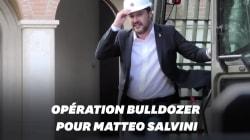 Pour lutter contre la mafia, Matteo Salvini détruit une villa au