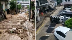 Coulées de boue et voitures retournées, les images des dégâts au
