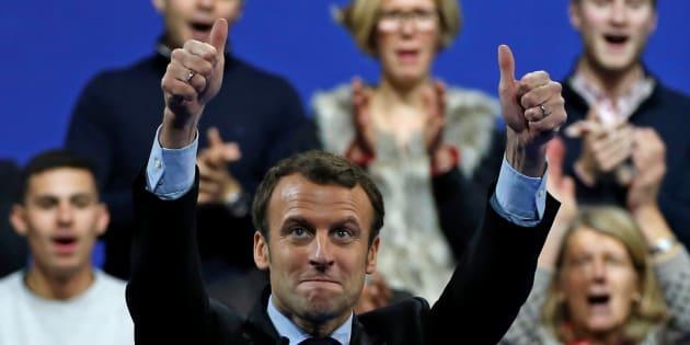 Emmanuel Macron, lors de son meeting à Lille le 14 janvier.