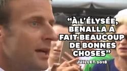 Ce que disait Macron de l'affaire Benalla contredit par le