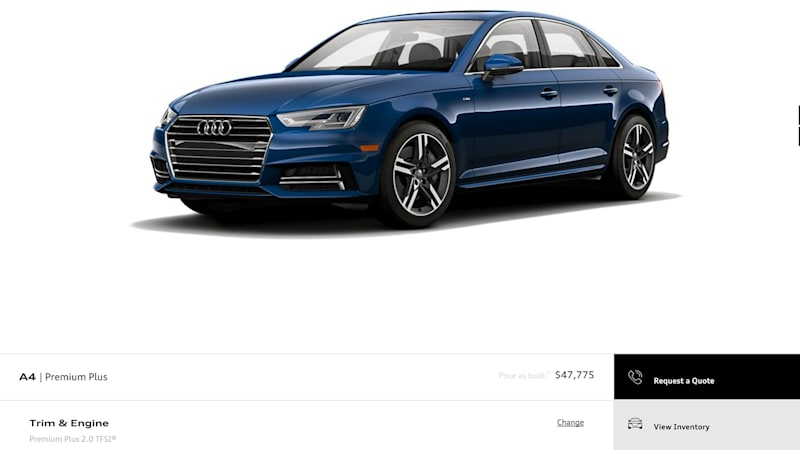 2017 Audi A4 pricing drops before Detroit debut  Autoblog
