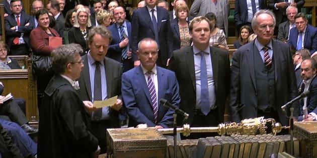 L'annonce des résultats des votes sur le report sur le Brexit, ce jeudi 14 mars.