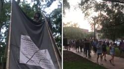 Ces étudiants américains déboulonnent une statue confédérée avant leur rentrée des