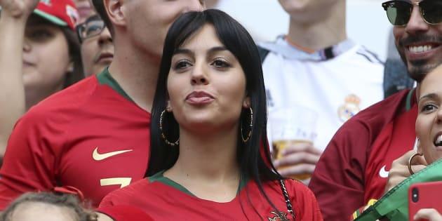 Georgina Rodriguez, novia de Cristiano Ronaldo, en el partido del 20 de junio Portugal-Marruecos.