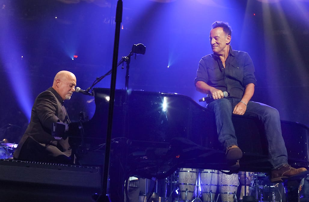 Bruce Springsteen Wows Audience During Billy Joelu0027s 100th Concert At Madison  Square Garden