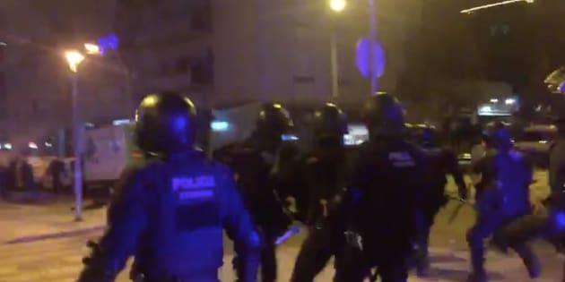 Cargas policiales en Tarrassa.