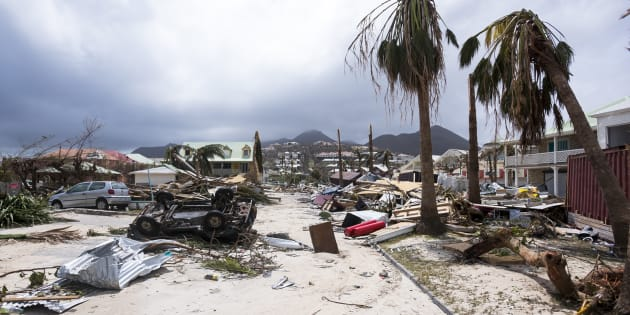 A photo taken Thursday shows damage in Orient Bay on the French Carribean island of Saint-Martin, after the passage of Hurricane Irma.