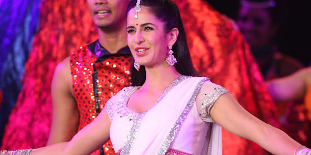 Indian bollywood actress Katrina Kaif  preforms during world Kabbadi closing ceremony at the Guru Nanak Statdium in Ludhiana, December 15, 2012.