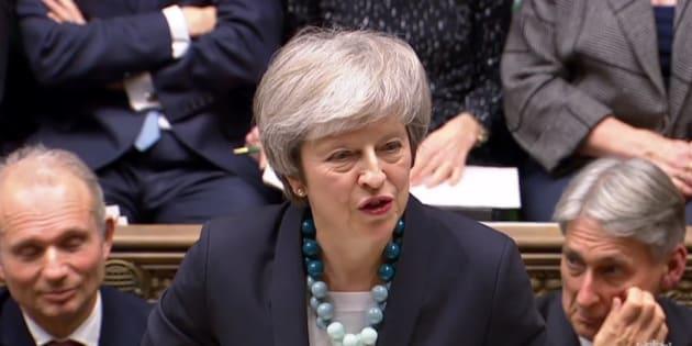 Theresa May au Parlement britannique à Londres le 10 décembre 2018.