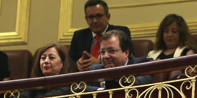 Vara durante el debate de la moción de censura contra Rajoy