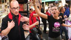 Le mauvais quart d'heure d'un boucher parisien face à la marche contre les
