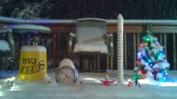Cette mise en scène en time-lapse montre l'ampleur des chutes de neige aux