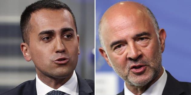"""Di Maio rinfaccia a Moscovici il suo deficit: """"Non può"""