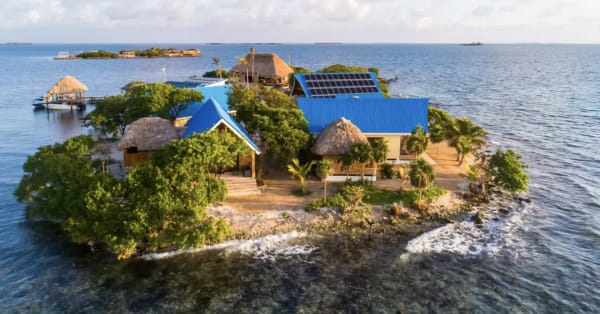 There's a private island off the coast of Belize you can rent for $200 a night -- but there's a slight catch