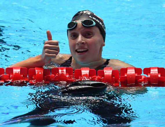 Olympian's extraordinary swim — with a glass of milk
