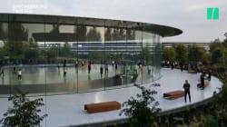 Les vitres du QG d'Apple sont si transparentes que des employés se cognent dedans, ces appels d'urgence le
