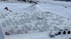 Giant Manitoba Snow Maze Shatters World