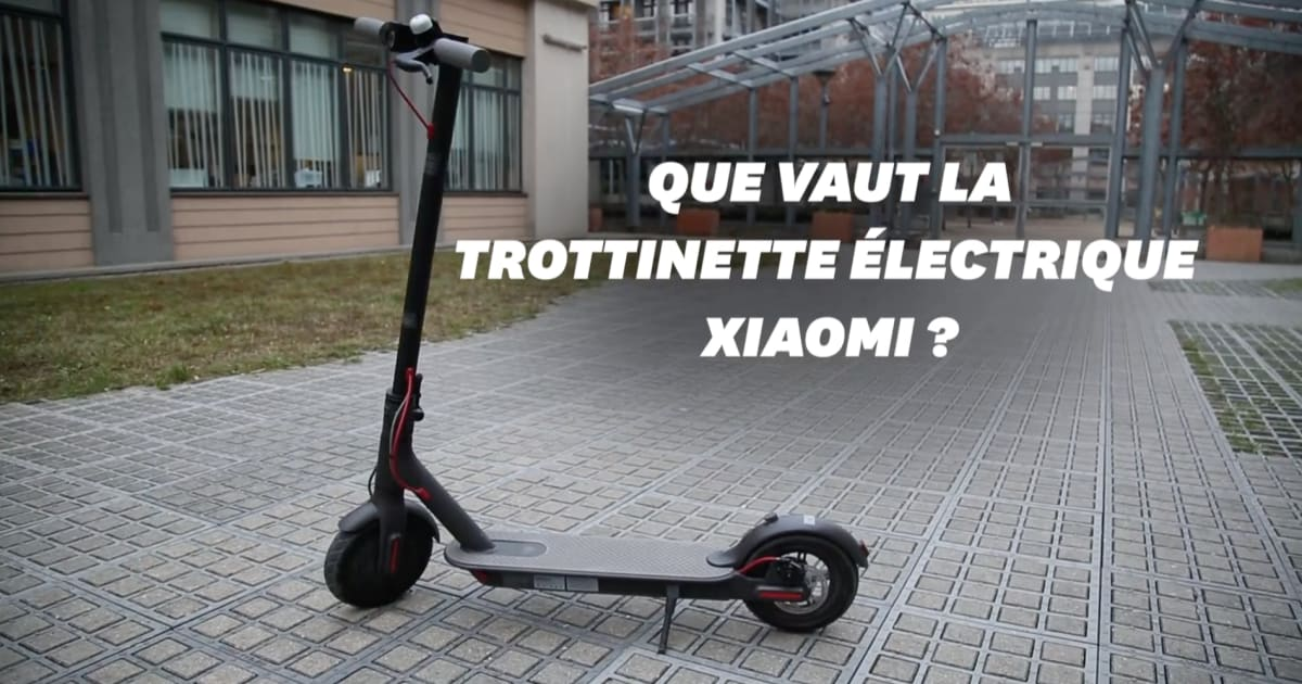 black friday test de la trottinette lectrique xiaomi. Black Bedroom Furniture Sets. Home Design Ideas