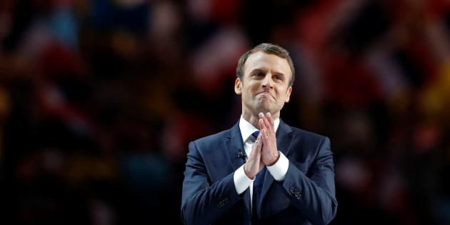 Avec Emmanuel Macron, une large mobilisation en faveur du partage de la culture. REUTERS/Benoit Tessier