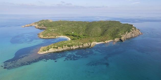 La isla menorquina de Colom.