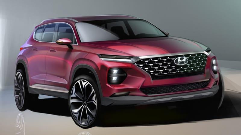2019 Hyundai Santa Fe rendering