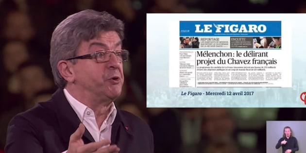 Jean-Luc Mélenchon se paye Le Figaro en rendant hommage au Gorafi.