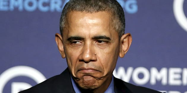 Grumpy Obama is grumpy.