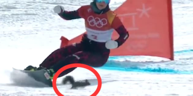 Aux JO d'hiver 2018, cet écureuil a donné des frissons aux spectateurs du slalom géant parallèle